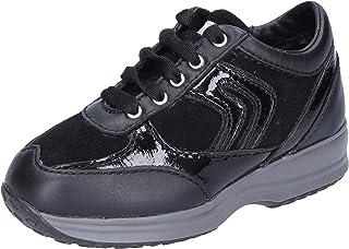Geox Sneaker Bambina Pelle Nero