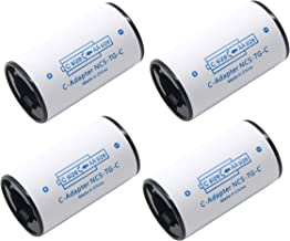 LAMPVPATH (Pack of 4) C Battery Adapter, AA to C Battery Adapter Converter Spacer, C Size Battery Adapter