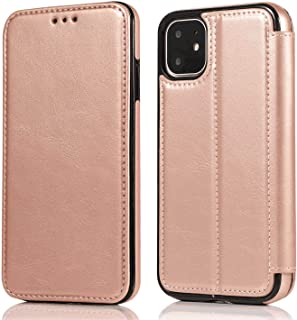 Stylish Cover Compatible with iPhone 11 Pro, pink Leather Flip Case Wallet for iPhone 11 Pro