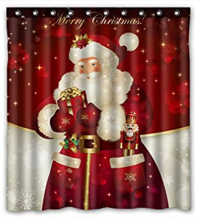 KXMDXA Merry Christ mas Dreamlike the Santa Claus Waterproof Polyester Shower Curtain 60x72 Inch Bathroom Decor