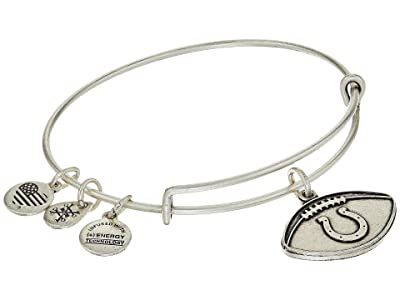 Alex and Ani NFL Indianapolis Colts Football Bangle (Rafaelian Silver) Charms Bracelet