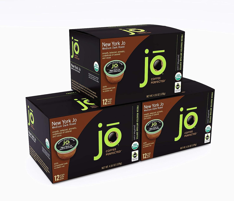 Large special price !! NEW YORK JO: 36 Cup Organic Serve Medium Coffe 5 popular Single Dark Roast
