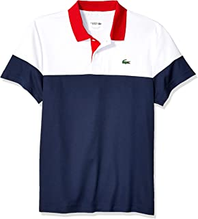 8aff9683a28a Lacoste Men's Sport Short Sleeve Color Blocked Polo