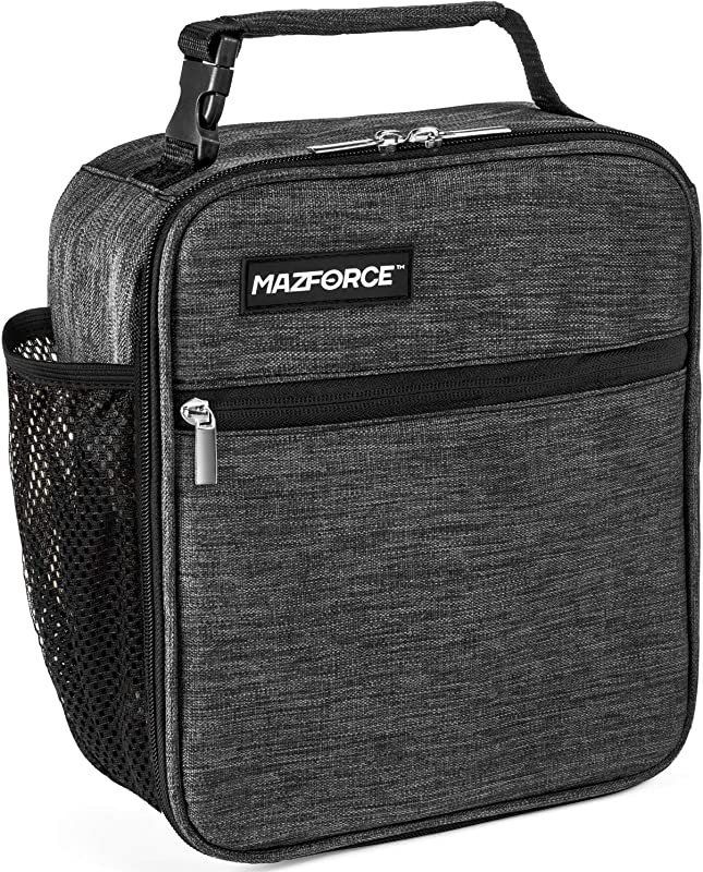 MAZFORCE Original Lunch Bag Insulated Lunch Box Tough Spacious Adult Lunchbox To Seize Your Day Iron Grey Lunch Bags Designed In California For Men Adults Women