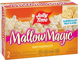 JOLLY TIME Mallow Magic | Sweet Marshmallow Microwave Popcorn with Candy Coated Sugar Topping for an Easy Gourmet Treat (2-Count Box, Pack of 12)
