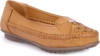 YAHE Women's Casual/Formal Faux Leather Ballerina/Belly/Ballet Flat Shoes Y-403
