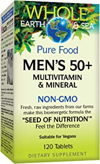 Whole Earth & Sea Mens 50 +l Multivitamin & Mineral Natural Factors 120 Tabs