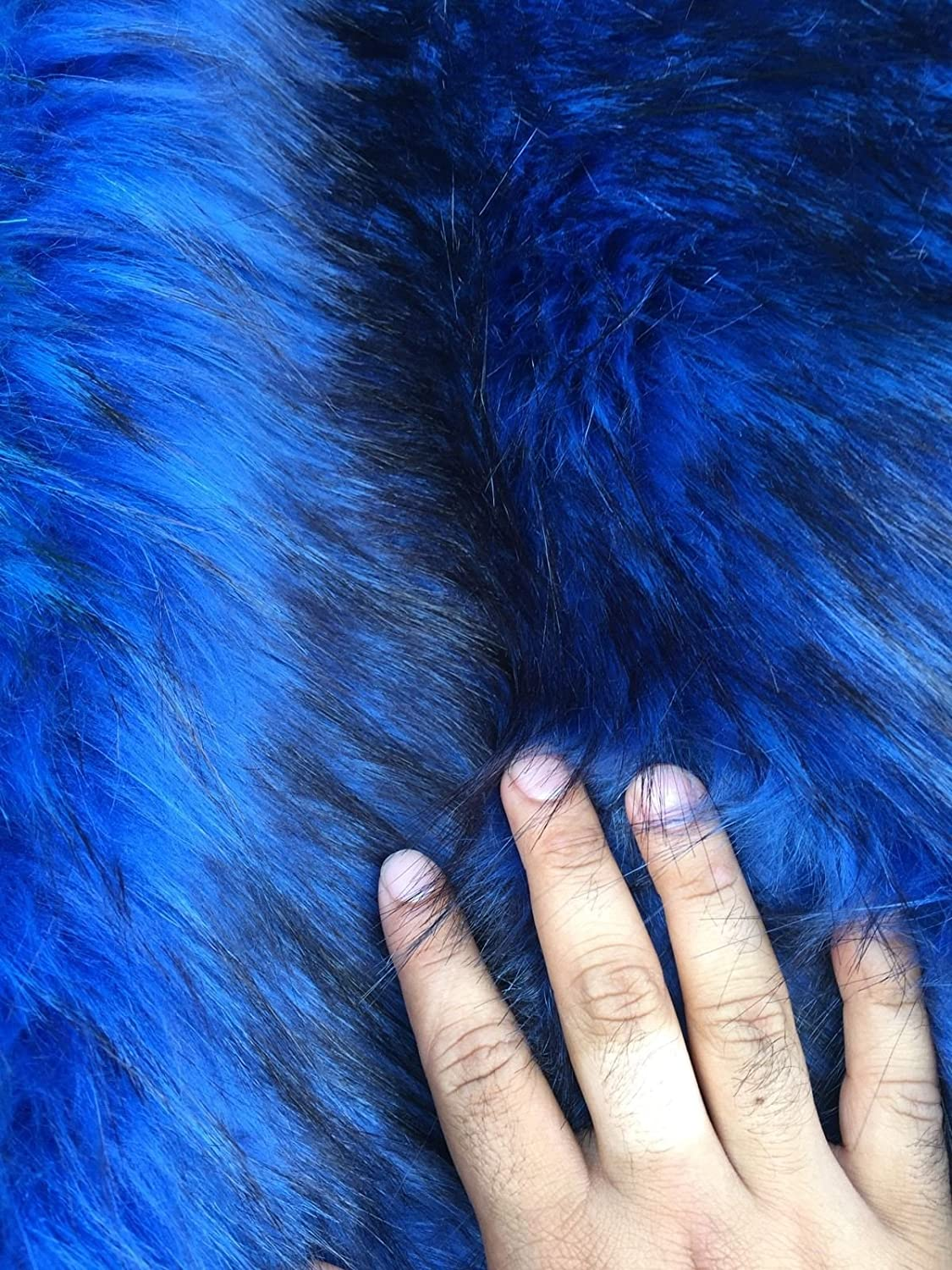 Royal Blue black Husky Faux Max 59% OFF Fur 2 The Shaggy Y Detroit Mall Tone Fur. By Sold