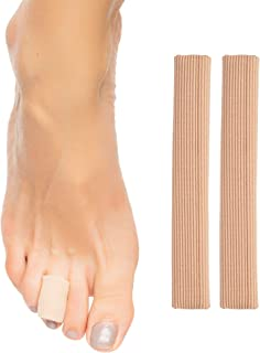 """ZenToes Open Toe Tubes Gel Lined Fabric Sleeve Protectors to Prevent Corns, Calluses and Blisters While Softening and Soothing The Skin - 2 Pack of 6"""" Sleeves (Medium)"""