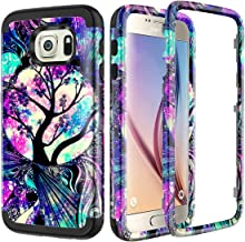 Lamcase for Galaxy S6 Case Shockproof Dual Layer Hard PC & Flexible Silicone High Impact Durable Bumper Armor Protective Case Cover Samsung Galaxy S6 G920, Life Tree