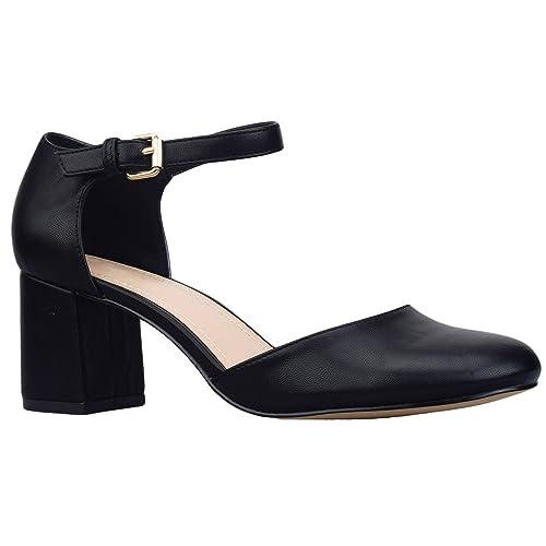 e35a4da4e54 Greatonu Womens Square Toe Mary Jane Court Shoes