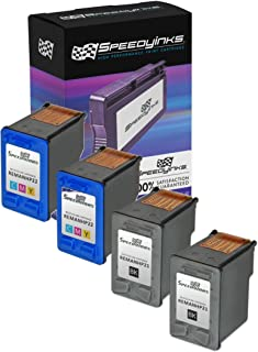 Speedy Inks Remanufactured Ink Cartridge Replacement for HP 21 and HP 22 (2 Black and 2 Color, 4-Pack)