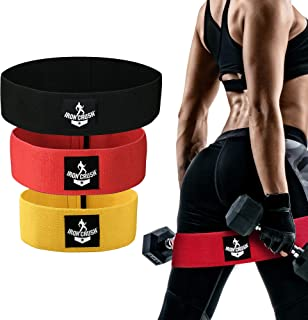 Iron Crush Resistance Hip Booty Bands | Set of 3 Levels | for Men & Women.
