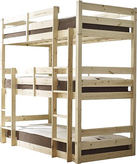 Triple Bunk Bed Triple Sleeper Bunk Bed Swedish Last Amazon De Home Kitchen