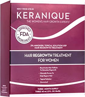 Keranique Hair Regrowth Treatment Extended Nozzle Sprayer, 2 Fl. oz (Pack of 3)