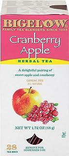 Bigelow Cranberry Apple Herbal Tea Bags 28-Count Box (Pack of 1) Cranberry Apple Hibiscus Flavored Herbal Tea Bags All Nat...