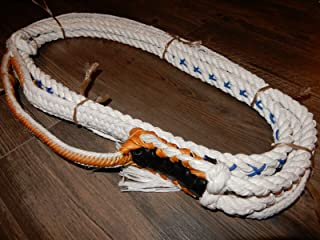 Alligator Bull Rope White Poly Custom PRO 9x7 RH Bull Riding - EPT Bull Ropes