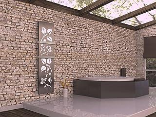 Radiador de diseño deja la 3, HxB: 180 x 47 cm, 1118 Watt, colour blanco/acero inoxidable mate + 2 toallero (marca: Szagato) pantalla/top-transformados de baño y sala de estar-radiador (conexión central)