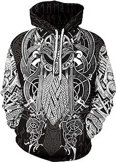 GLUDEAR - Sudadera con Capucha para Hombre, diseño de Vikingos ...
