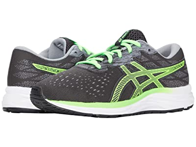 ASICS Kids GEL-Excite 7 (Little Kid/Big Kid) (Graphite Grey/Green Gecko) Boy