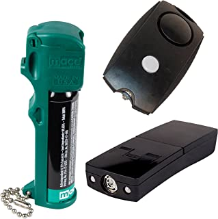 Mace Dog Walker Bundle Muzzle Pepper Spray - EPA Approved for Animals, Electronic Dog Repeller and Personal Alarm Plus Bonus - Lot of 3 as Shown