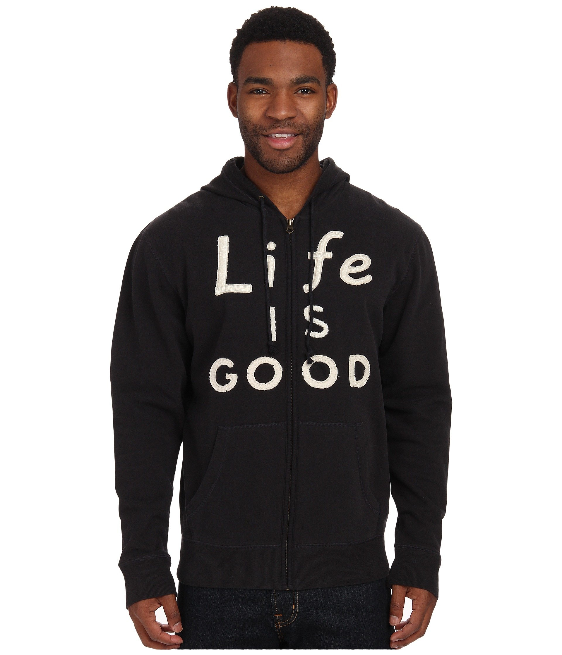 Buzo o Chaqueta Deportiva para Hombre Life is Good All Good Zip Hoodie  + Life is Good en VeoyCompro.net