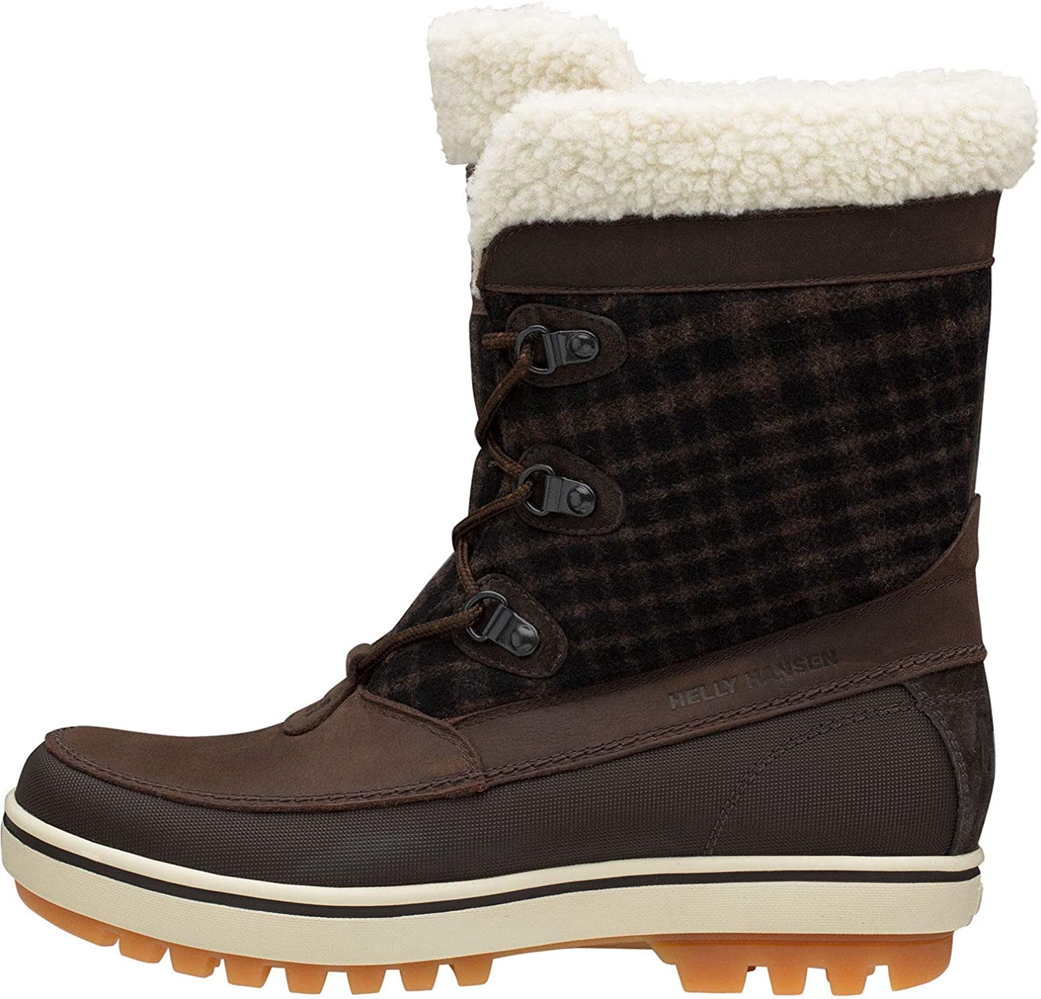 Helly Hansen Women's Slouch S Georgina Winter Boot with Faux Fur and Grip Clay Coffee Bean Soccer Gum 9, US:5