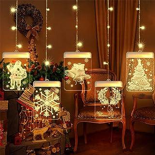 SSITG LED Fensterdekoration Fensterbeleuchtung Fensterschmuck Weihnachten Deko 20cm deutsche Lager 3-7 Tagen