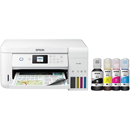 Epson EcoTank ET-2760 Wireless Color All-in-One Cartridge-Free Supertank Printer with Scanner and Copier