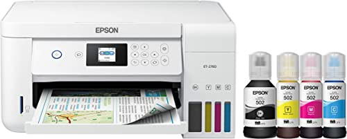 Epson EcoTank ET-2760 Wireless Colour All-in-One Cartridge-Free Supertank Printer with Scanner and Copier,Everyday Ho...