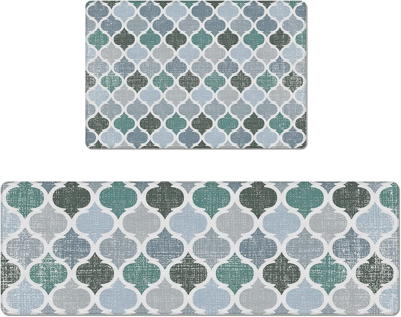 Set Los Angeles Mall of 2 Kitchen Rug PVC National uniform free shipping C and Leather Mats Non-Slip
