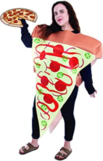 Supreme Pizza Slice Halloween Costume | Adult Unisex Funny Food Outfit
