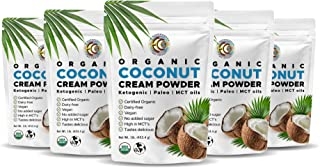 Earth Circle Organics - Organic Coconut Cream | Milk Powder, Perfect Keto Coffee Creamer - High in Mct Oil, Vegan, no Glut...