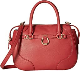 cfc9dd712f Lauren ralph lauren newbury double zip satchel at 6pm.com