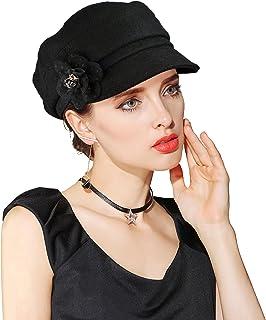 EINSKEY Beret Hats for Women, Ladies Wool Felt Cloche Hat Newsboy Cap