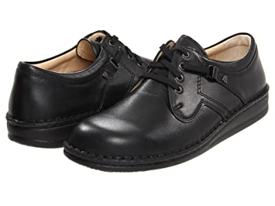 Finn Comfort Vaasa 1000 (Black Nappa Leather) Lace up casual Shoes