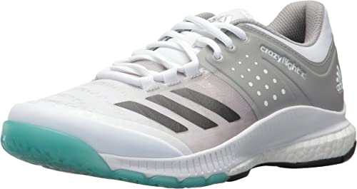 Adidas Wohommes Crazyflight X Volleyball chaussures,blanc Night Metallic gris,12.5 M US