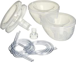 Freemie Collection Cups The Only Hands Free and Concealable Breast Pump Milk Collection System, Clear, 25/28 mm Funnels