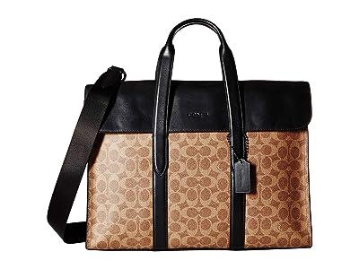 COACH Metropolitan Portfolio in Signature (Beige) Briefcase Bags