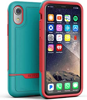 Encased Protective iPhone XR Case (Military Grade) Full Body Heavy Duty Protection (2018 Rebel Armor) (Ocean Teal Pink)