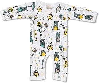 Babyushka Grey Bear Organic Long Sleeve Kimono Jumpsuit, 6-12 Months (0)