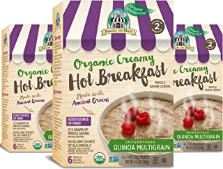 Bakery On Main Gluten-Free, Organic Creamy Hot Breakfast, Quinoa Multigrain, 6 Count Box (Pack of 3)