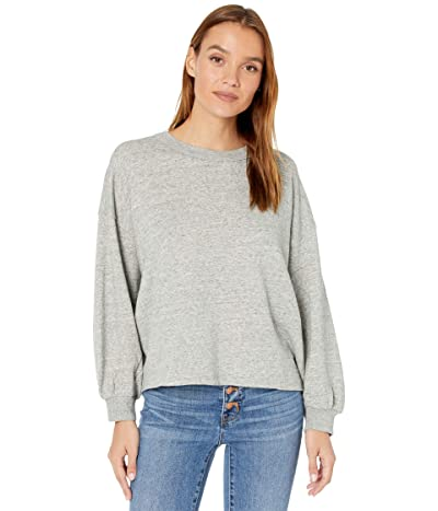 J.Crew Terry Relaxed Puff Sleeve Sweatshirt (Heather Graphite) Women