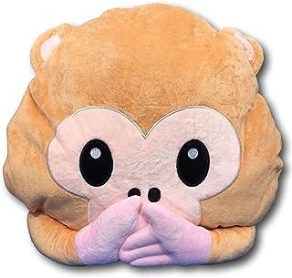 EKNA Emoticon Emoji de con emotikon Cojín peluche suave con selección Smiley Monos Espíritu kacki Cúmulos kackh aufen