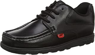 Kickers Boy's Fragma Lace Up Black Leather Shoes