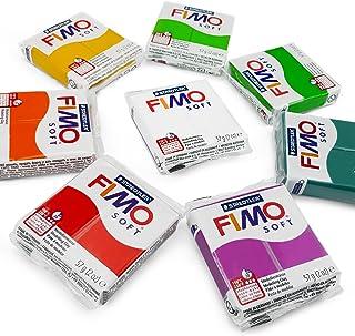 FIMO - Arcilla de modelado para horno de polímero suave, 57 g, juego de 8, colores florales