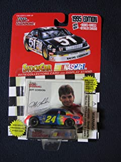 Racing Champions #24 Jeff Gordon NASCAR 1995 Edition Collector Card and Display Stand - 1/64 Scale Die Cast Replica UPC #095949011538