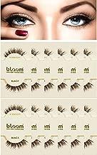 BLOOM 100% Natural Remy Human Hair False Eyelashes - #DW Black (Pack of 12)