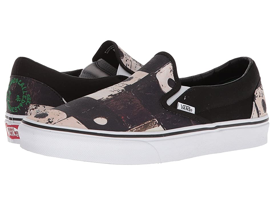 Vans Classic Slip-On X A Tribe Called Quest Collab. (Black) Skate Shoes