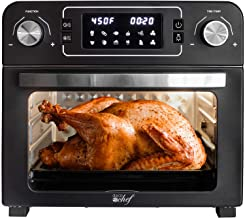 Deco Chef 24 QT Black Stainless Steel Countertop 1700 Watt Toaster Oven with built-in Air Fryer and included Rotisserie As...